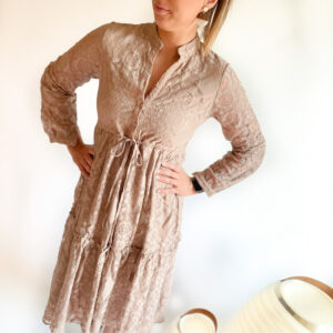 Bisou kleed – taupe